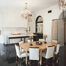 The dining room in a historical Manhattan residence
