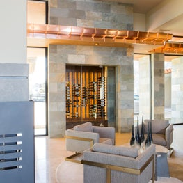 Wine Room and Seating Area