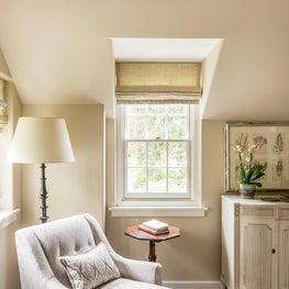 Master Bedroom Reading Nook near traditional dormer in Berwyn, Pennsylvania