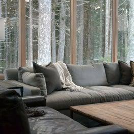 Alaska Vacation Home - Sunken Living Room