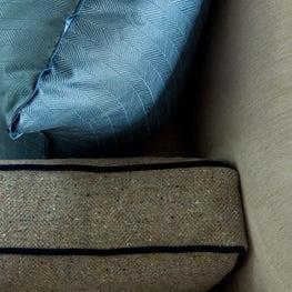 Pennsylvania Farmhouse, Sofa and Pillow Detail