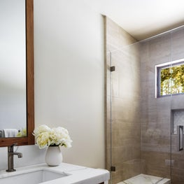 """Soulful and Sustainable Design with """"Quietly Elegant"""" Bathroom"""