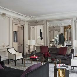 An art collector's living room