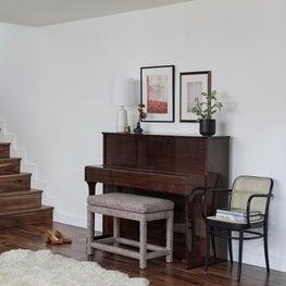 Interior Vignette with Upright Mid Century Piano