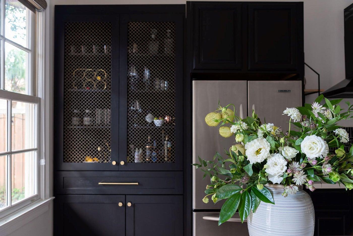 Custom Bar Cabinet in a New Orleans Garden District Kitchen Remodel