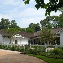 Entry Drive & Gardens, Bonney Brier Residence, Houston, Texas