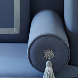 Lincoln Park Residence Detail of Bespoke Dining Banquette.