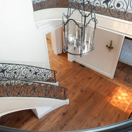 French Inspired Atherton Home - Reclaimed Walnut