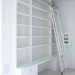 East Hampton Custom Desk with Book Shelf and Rolling Ladder
