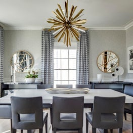 Dining Room with brass accents
