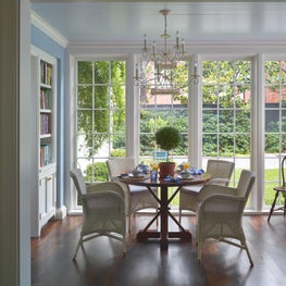 Breakfast Room with Wicker Chairs