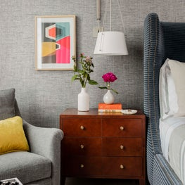 Bedside nightstand area designed by Robin Gannon Interiors