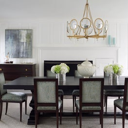 Transitional Style Dining Room in Southport, Connecticut