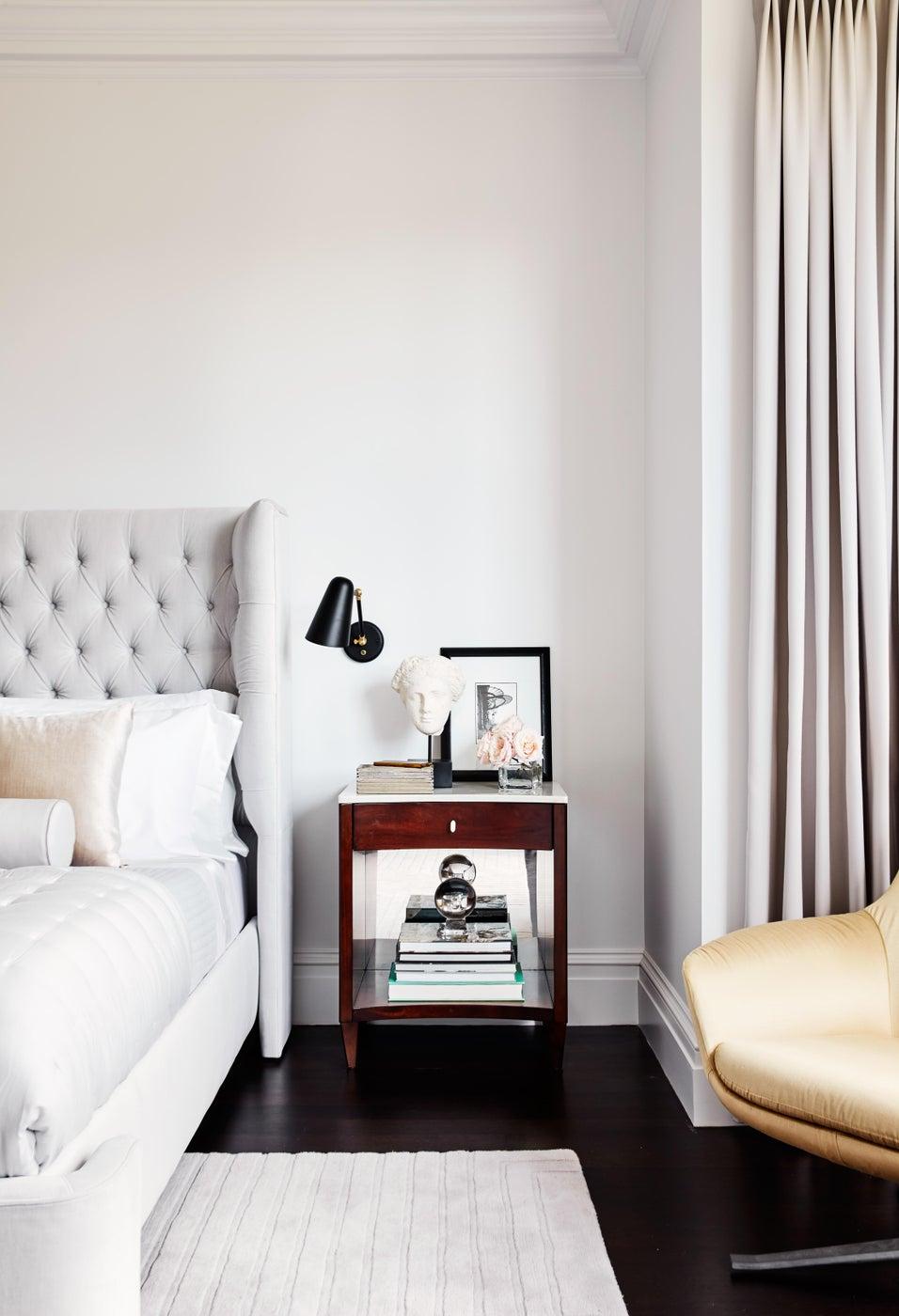 A Historic Boston Back Bay Brownstone Luxury Master Bedroom Detail