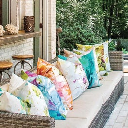 Indoor/ Outdoor Pillow Line  Designed for Piper Collection