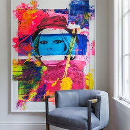 Colorful Hallway with Ken Tate Painting
