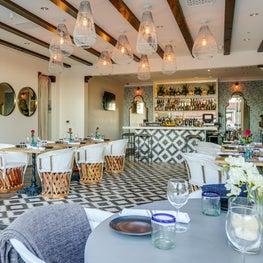 View of the Azucar Bar area at Palm Springs La Serena Villas Hotel