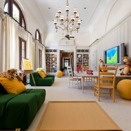 Interior Architecture of Miami Indian Creek Home featured in Architectural Digest – Playroom