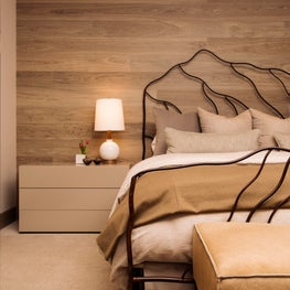 Snowmass Village, Aspen Two Creeks Remodel- Bedroom- wood wall