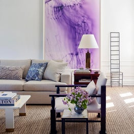 Vibrant Living Room with a Wolfgang Tillmans Photograph.  Greenwich, CT