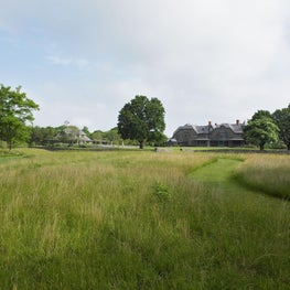 View of the house over the restored native meadow