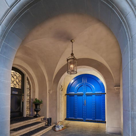Entry Portico at DC row house on Embassy Row