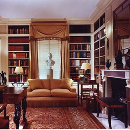 New York apartment library