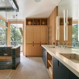 Mid Century inspired bathroom in San Francisco Bay Area