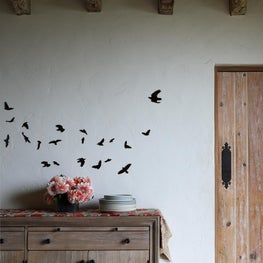 Birds of a feather, dinning room artwork