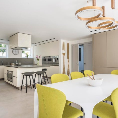 Kensington Townhouse Lower Ground Floor Kitchen and Family Dining