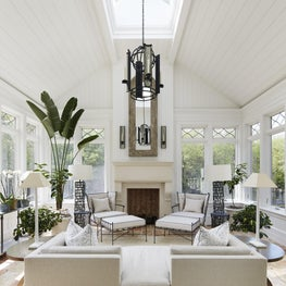 An elegant conservatory that allows for a multitude of uses.