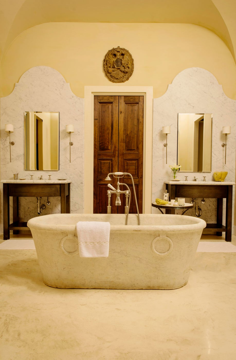 Tuscan Villa Style Home Inspired by Italian Classicism - Master Bath