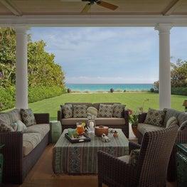 Classic ocean veranda in Palm Beach