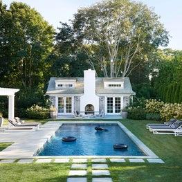 Southampton Residence, Backyard and Pool House