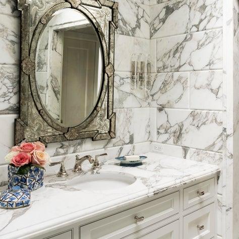 Art Deco style guest quarters bathroom