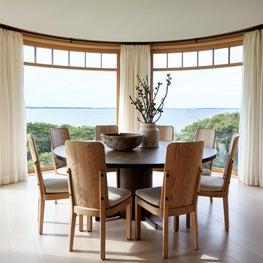 Mid Century Modern Coastal New England House Breakfast Room