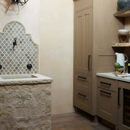 Butlers Pantry complete with a European fountain style sink.