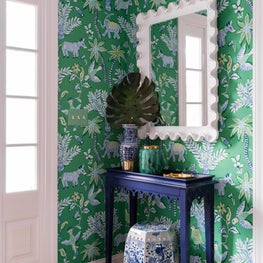 Trellis Home Design_Blue and Green Entryway