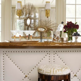 Chic studded leather bar