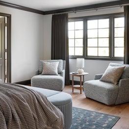 Los Altos Hills Tudor Master Bedroom Sitting Area