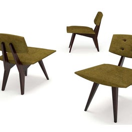 The Rizzo is  a fun chair featuring a wood frame and upholstered seat and back; perfect for any celebrity party.