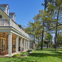 Rear porch of waterfront estate enjoys sweeping views of the Chesapeake Bay