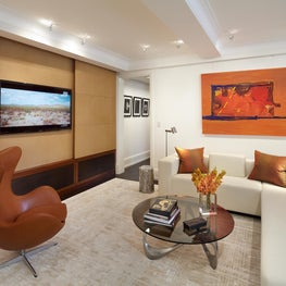 Madison Avenue Residence Living Room with Paneling Open