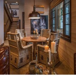 Cozy cabin dining area