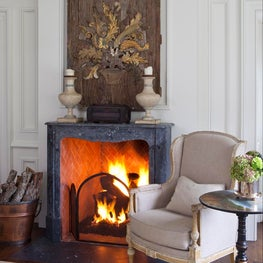 Country Home Bellville Master Fireplace