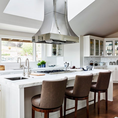 Whispers of Elegance - Kitchen with Island Hood Vent