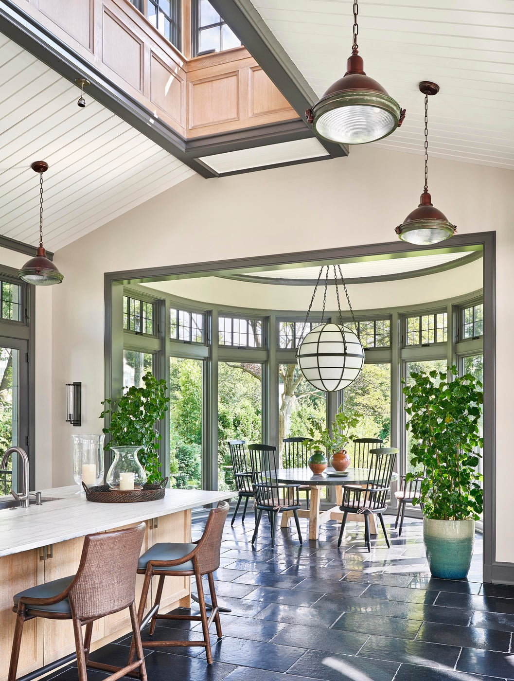 Airy kitchen in North Shore home.