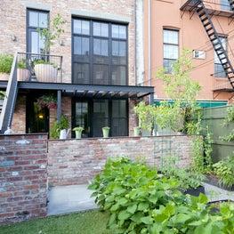 Garden facade, Carroll Gardens Row House