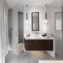"Master Bathroom, ""Modern in the Redwoods"" Mill Valley, California"
