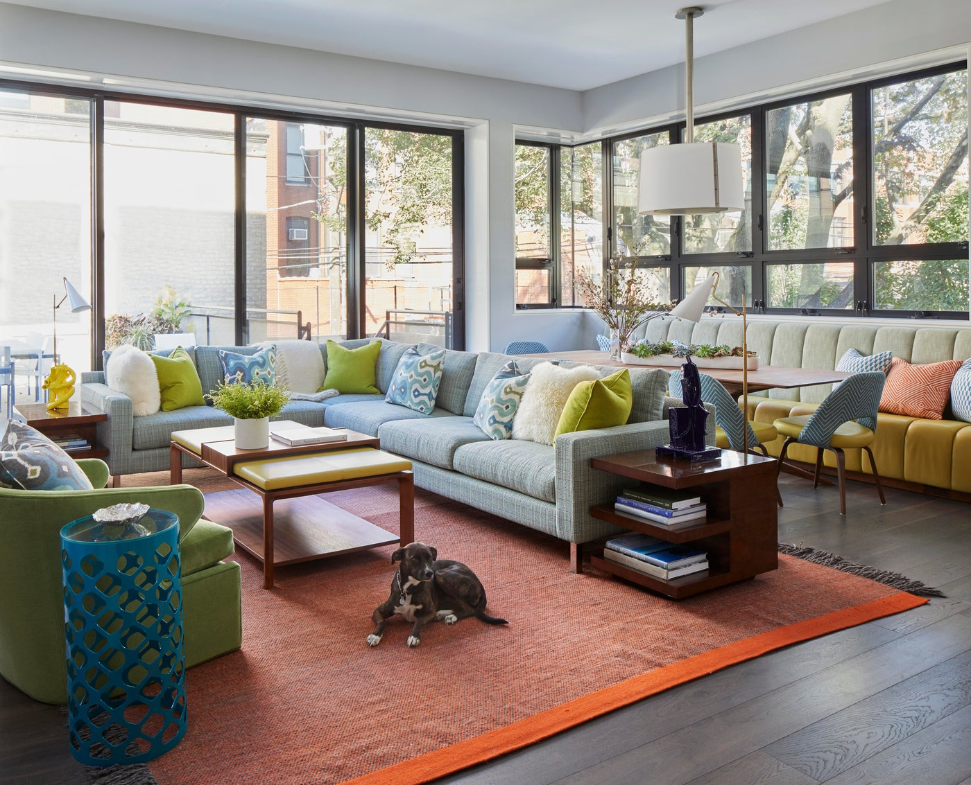 Historic Lincoln Park contemporary family room.